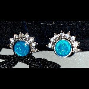 Ocean blue cocktail earrings
